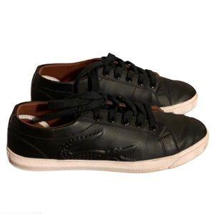 Lacoste Black Alligator Sneakers - Boy's Size 1